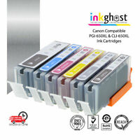 Inkghost Ink Cartridges PGI650 CLI651 XL for Canon pixma IP8760 MG6360 7160 7560