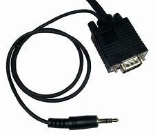 2m Macho Vga Pc Monitor Svga de plomo y construido en 3.5 Mm Sonido Estéreo Cable Conector De Audio