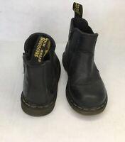 Dr. Martens Shenzi Kids Chelsea Boot Black Leather Zip Unisex US SZ 9 16704001