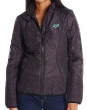 NWT WOMENS FOX RACING SONAR BLACK SLIMMING QUILTED ZIP JACKET M MEDIUM NEW