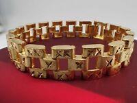 Hommes Bijoux 18 carats en or jaune massif large 12mm montre bracelet bracelet 8