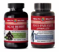candida combat - ACAI BERRY & ANTI PARASITE COMBO 1+1 - black walnut capsules