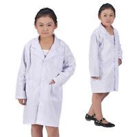 Child Kid Clothing Lab Coat Doctor Hospital Scientist School Costume Fancy Dress