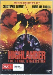 HIGHLANDER The Final Dimension DVD Christopher Lambert NEW & SEALED Free Post