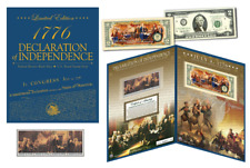 Declaration of Independence * 240th Anniv * Historic Currency & 1976 Stamp Set