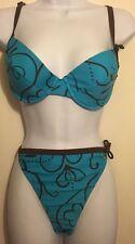 Naturana Turquoise Bikini Size 16
