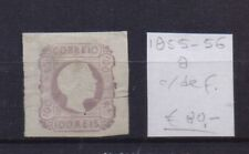 ! Portugal 1855-1856.  Faulty  Stamp. YT#8. €80.00!