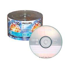 600 Pack Philips Brand Logo Blank CDR CD-R 52X Disc Media, 5*100 Wholesale Lot