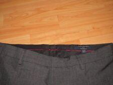 BANANA REPUBLIC dress pants 35 x 32 tailored fit dark gray stripe flat front