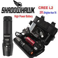 20000lm Genuine Shadowhawk X800 Flashlight XML L2 LED Zoom Military Torch Light