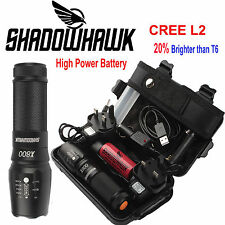 8000lm Genuine Shadowhawk X800 Flashlight CREE L2 LED Zoom Military Torch Light
