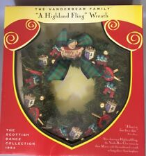 A Highland Fling Christmas Wreath from The Vanderbear Family Scottish Dance