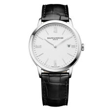 Baume and Mercier Classima  Mens Black Leather Strap Watch MOA10323