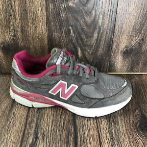 New Balance 990v3 Grey/Komen Pink Women's Running Shoes W990KM3 Sz 8.5