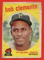 1959 Topps #478 Roberto Clemente LOW GRADE FILLER Pittsburgh Pirates FREE SHIP