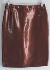 NWT Escada Bronze Copper Shimmer Rock Skirt Size 38 MSRP $550