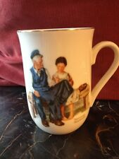 """Vintage 1982 Norman Rockwell Coffee Mug """"The Lighthouse Keeper'S Daughter"""""""
