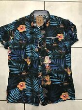 Pearly King Black Tropical Mens Short Sleeved Shirt Size M New