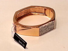 Banana Republic Gold Tone /Marble  Beautiful Bangle Bracelet - NEW W/ tag $49.50