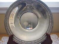 "Wallace 5120 Silverplate Plate, 10 3/4"" Diameter"