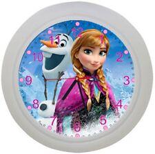 ✿Kinderwanduhr ✿FROZEN Eiskönigin Elsa Anna ✿Wanduhr ✿KEIN TICKEN ✿mit/ohne Name