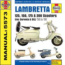 LAMBRETTA SCOOTER MANUALE SX125 SX200 DL125 dl150 dl200 125GP 150GP 200GP H5573