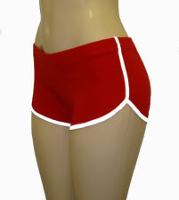 Red Retro Shorts with White Trim Extra Small