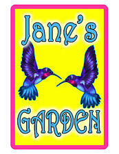 Personalized Garden Sign Printed with YOUR NAME..Custom Personalized Signs..humm