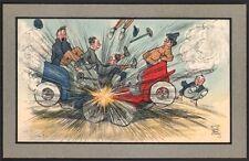 Charles Lane Vicary. Accidents. Série complète de 6 cartes. Automobile