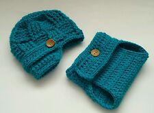 Newborn Baby Boy Newsboy Hat and Diaper cover Crochet infant photo prop Outfits