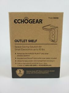 Outlet Shelf ECHOGEAR Made for Mini Electronics Echo Dot, Other Echo Products