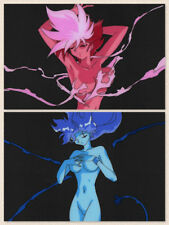 Dirty Pair Flash Anime Cel Douga Sexy Kei Yuri Animation Art OP Opening Set of 2