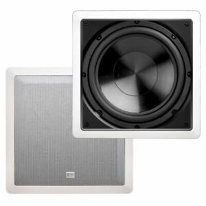 """10"""" In Wall Subwoofer Home Theater Passive 200W Easy Mounting Bracket IWS10 OSD"""