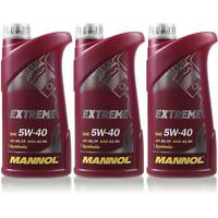 3L Original MANNOL Extreme 5W-40 API SN/CF Öl Motoröl MN7915-1