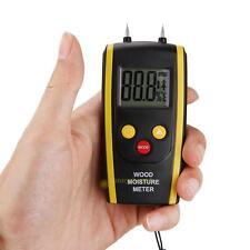 Digital LCD Moisture Temperature Meter Humidity Timber Wood Plaster Damp Tester