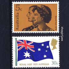 1970 - Australia - Royal Visit - Queen Elizabeth 2 & Prince Phillip - set of 2