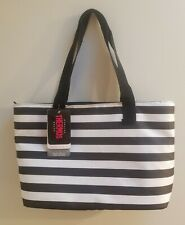 Thermos Insulated 18 Can Tote Bag Cooler Lunch Beach School Black White