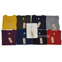 BOB DONG Tank Top Heavyweight Solid Undershirts For Men 100% Cotton Sleeveless