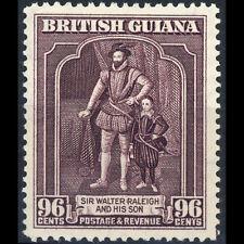 BRITISH GUIANA 1938-52 96c Purple. Perf: 12.5x13.5.SG 316a Lightly Hinged(AT170)