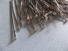 Silver Headpins - 24 gauge - 2 inch Head Pins - Qty 180 pieces