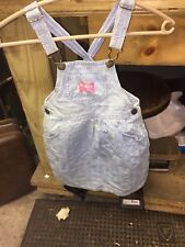 Vintage 1980s OshKosh Girls Overall Flower Dress Jumper