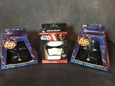 WHOLESALE LOT Star Wars - Storm Trooper Darth Vader Playing Cards - Helmet Cases