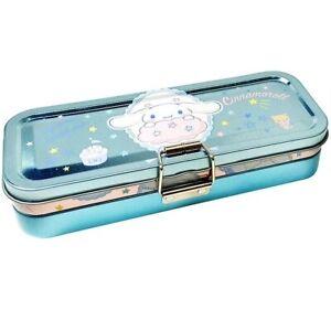 Sanrio Cinnamoroll Dog 3 Layer Pencil Pen Stationery Case Holder Metal Box Tin