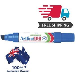 Artline 100 BLUE 7.5-12mm Chisel Nib Box of 6