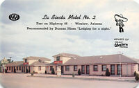 Winslow Arizona 1950-60s Postcard La Siesta Motel ROUTE 66
