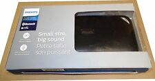 Philips Bluetooth NFC BT Wireless Portable Speaker with Mic Black BT3500B/37 NEW