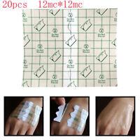 20Pcs 12*12cm Waterproof Anti-allergic Tape PU Film Medical Adhesive Plaster.