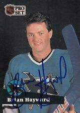 1991 Pro Set BRIAN HAYWARD San Jose SHARKS Autographed Signed Hockey Card 327 (B