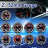 "2"" 52MM CAR BOOST/VACUUM/WATER/OIL TEMP/PRESSURE/VOLT/FUEL/EGT/TACHO GAUGE METER"