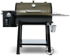 Pit Boss Grill 440 Deluxe Wood Pellet Smoker BBQ Porcelain-Coated Steel New